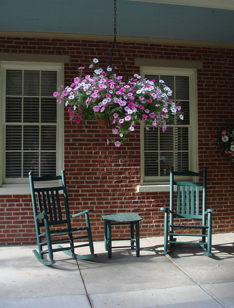Relax on the porch day or night, letting the sounds of nature and fresh air cleanse you of your worries and cares.
