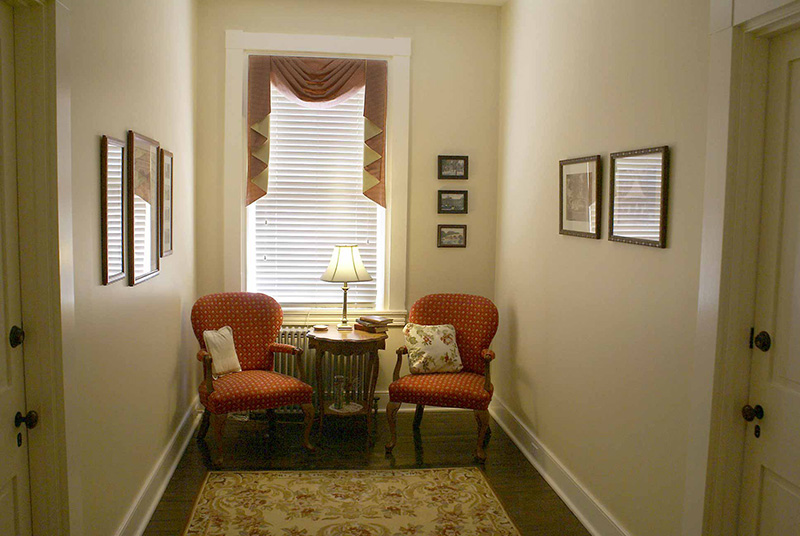 The Upstairs Sitting Area is Another quiet place to relax, read or chat.