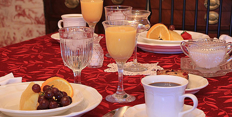Breakfast at Rocky Springs is not an afterthought. It is a delicious, well planned, multi-course start to your day.