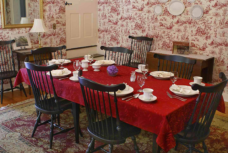 The Mansion House Dining Room - A delicious, Multi-Course Breakfast is included and served in the dining room daily.